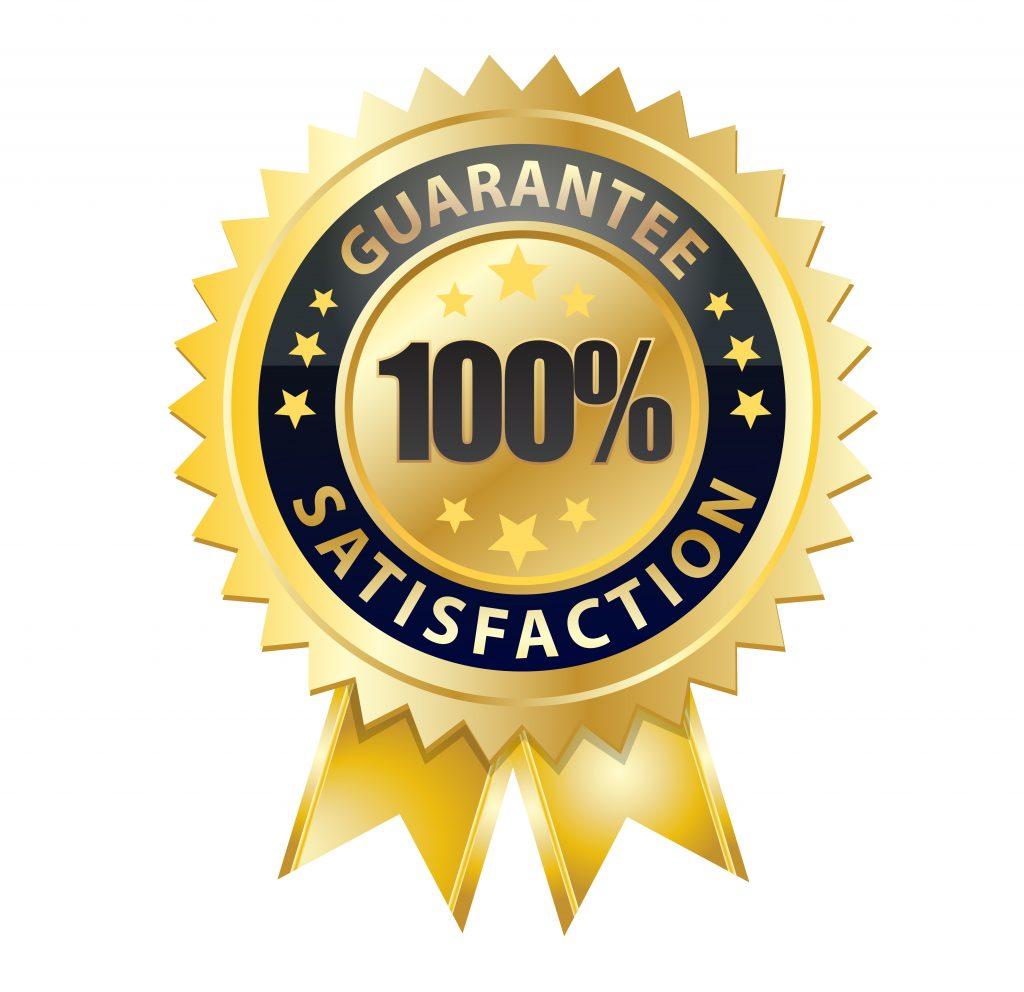 100% guarenteed satisfaction seal